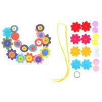 Набор для творчества - создай ожерелье из фетра ромашки