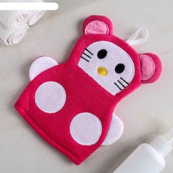 Мочалка-варежка детская kitty