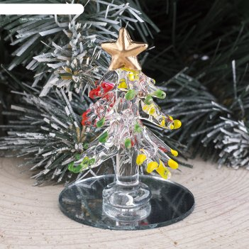 Фигурка стекло d-5,5 см цветные кончики