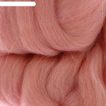 Шерсть для валяния 100% полутонкая шерсть 50 гр (292 розов. кварц)
