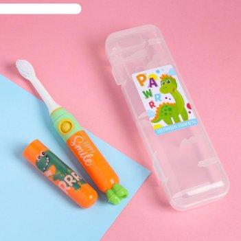 Электрическая зубная щетка «дракоша», lp-008, 19,2 х 5,5 см