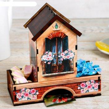 Чайный домик домик, 21х20х9 см