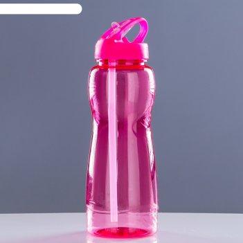 Фляжка-бутылка велосипедная 500 мл, фигурная, микс, 7х23 см