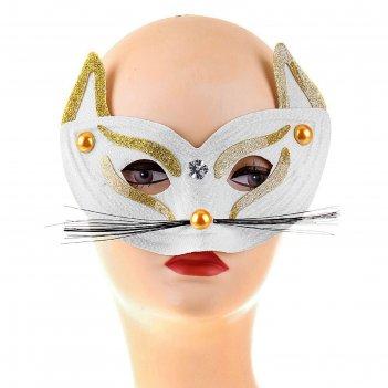 Карнавальная маска глаза кошки, цвета микс