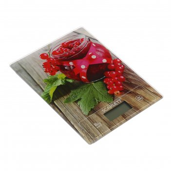 Весы электронные кухонные scarlett sc-ks57p36, 8 кг, рисунок