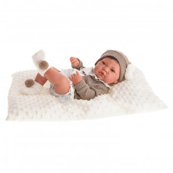Кукла-младенец «белен» в белом, 42 см