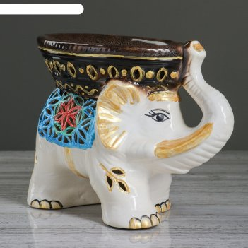 Ваза для конфет слон резная, 20,5 см, микс