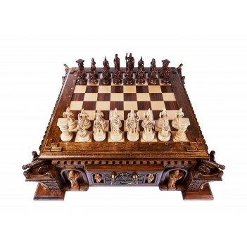 Шахматы резные в ларце пушка, haleyan
