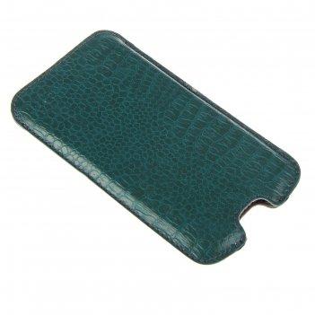 Чехол-кармашек norton размер ф (68x132x9 мм) (зеленый рептилия)