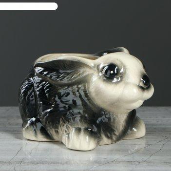 Фигурное кашпо заяц, глянец, 0,4 л