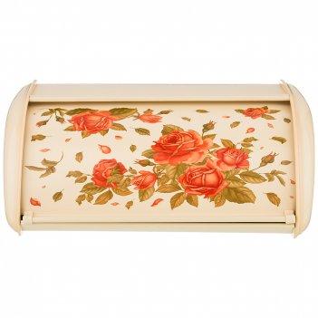 Хлебница agness корейская роза металлическая, 35,5х23х14,5см
