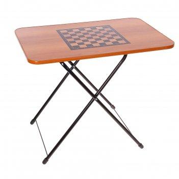 Стол туристический игровой, шахматы, столешница 75 х 50 см, высота 50 / 62