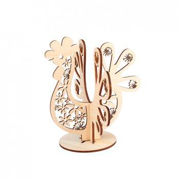 Декоративная сборная форма на подставке цветочный петух