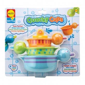 Набор игрушек для ванны чашки-уточки