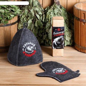 Набор сильному и смелому шапка, рукавица