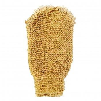 Мочалка beauty format натуральная, варежка, джут