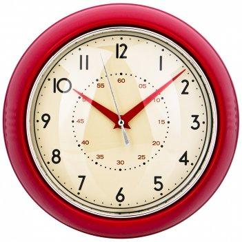 Часы настенные кварцевые lovely home диаметр 23 см цвет:красный (кор=6шт.)