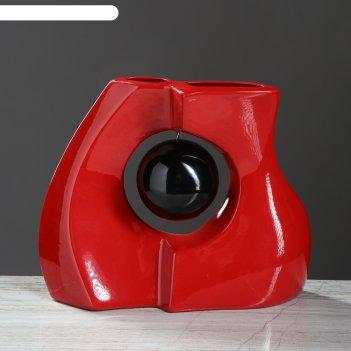 Ваза форма принцип абстракция красная глянец