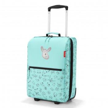 Чемодан детский trolley xs cats and dogs mint, водоотталкивающий полиэстер