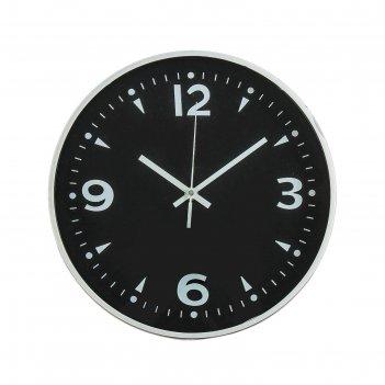 Часы настенные, серия: классика, оскар, d=30 см, арабские цифры