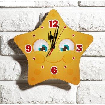 Часы настенные детские звездочка, 24 см