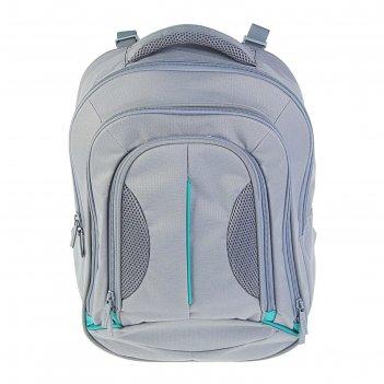 Рюкзак молодёжный luris 41x31x12 см эргономичная спинка «фаворит», серый