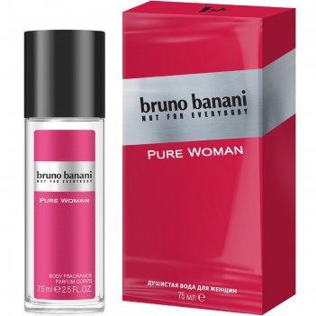 Душистая вода для женщин bruno banani pure woman, 75 мл