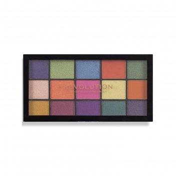 Палетка теней revolution makeup re-loaded palette, оттенок passion for col
