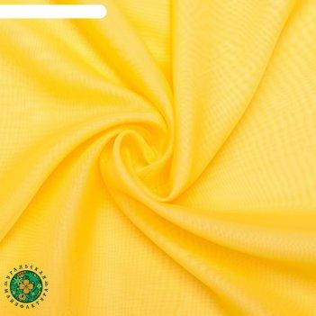 Тюль этель 145*270 цв. жёлтый, вуаль, 100% п/э