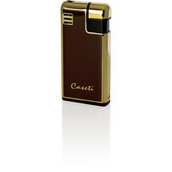 Зажигалка caseti газовая пьезо, сплав цинка, золото/красный ме