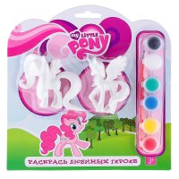 Набор для росписи my little pony , 2 фигурки, кисточка, краски bwc1117b