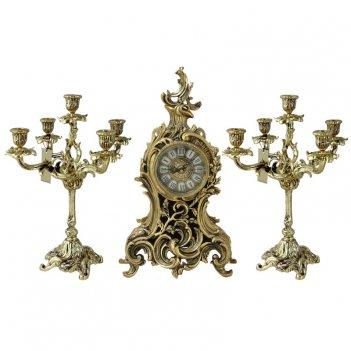 Каминные часы с канделябрами сильва велло