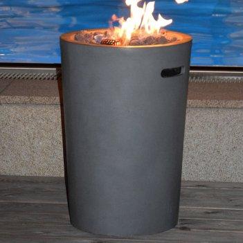 Уличный газовый камин clifton compact round slate, уличное оборудование