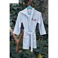 Халат детский young с вышивкой, 9-11 лет, цвет голубой 2952