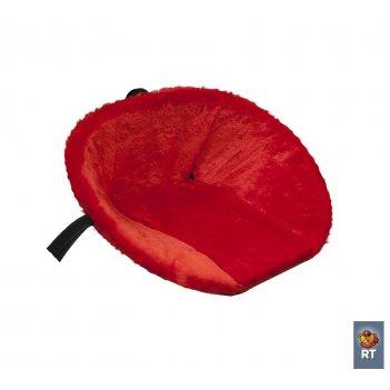 Матрасик для санок (меховой) красный короткий