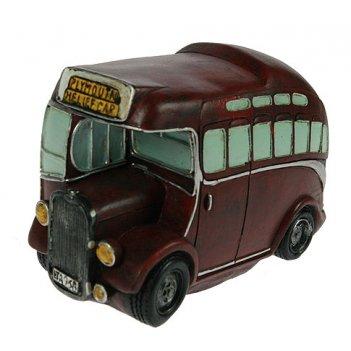 Копилка-ретро автобус 17*8*12см