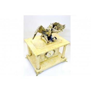 Часы-сейф из мрамора с двуглавым орлом (арт.с-014)