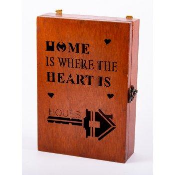 Коллаж-ключница 'home' 17*25*6см