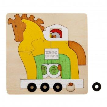 Пазл многослойный троянский конь, 2 слоя