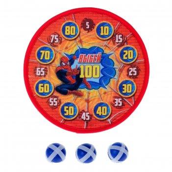 Marvel дартс человек-паук, мячи-липучки 3 шт, диаметр 28 см № sl-00103
