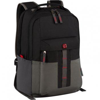 Рюкзак wenger 16, черный/серый, полиэстер, 34 x 25 x 45 см, 20 л