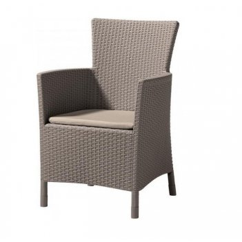 Кресло обеденное keter iova капучино, садовая мебель