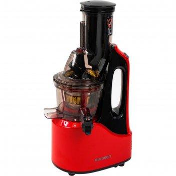 Соковыжималка oursson jm7002/rd, 240 вт, 1 скорость, черно-красная
