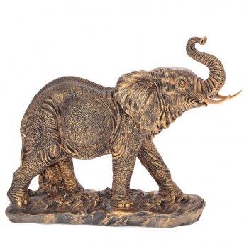 Статуэтка слон (бронза), l43 w17 h36 см