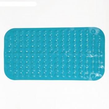 Коврик для ванны массажный 37х69 см, цвет микс