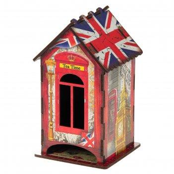 Чайный домик английский стиль, 9,8x9,8x17,4 см