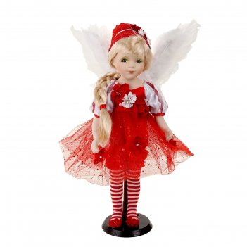 Кукла коллекционная керамика ангелок тася 45 см