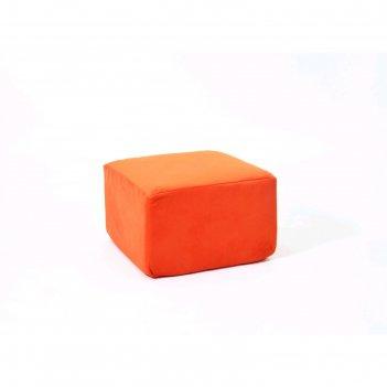 Пуф-модуль «тетрис», размер 50 x 50 см, оранжевый, велюр