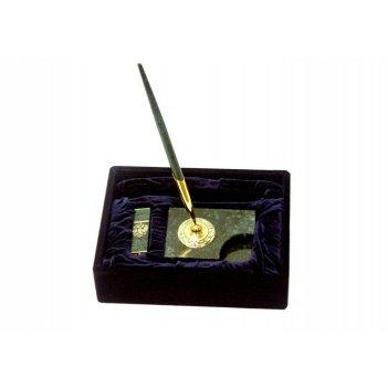 Ручка на подставке, визитница, флешка (флеш карта) (мрамор).
