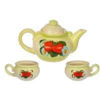 Чайный набор барыня чайник, чашка - 2 шт зеленый